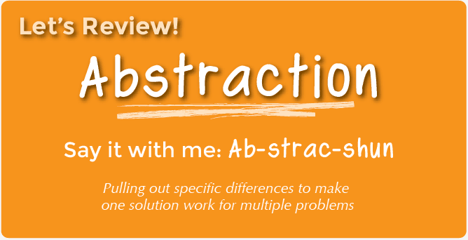 Abstraction With Mad Glibs