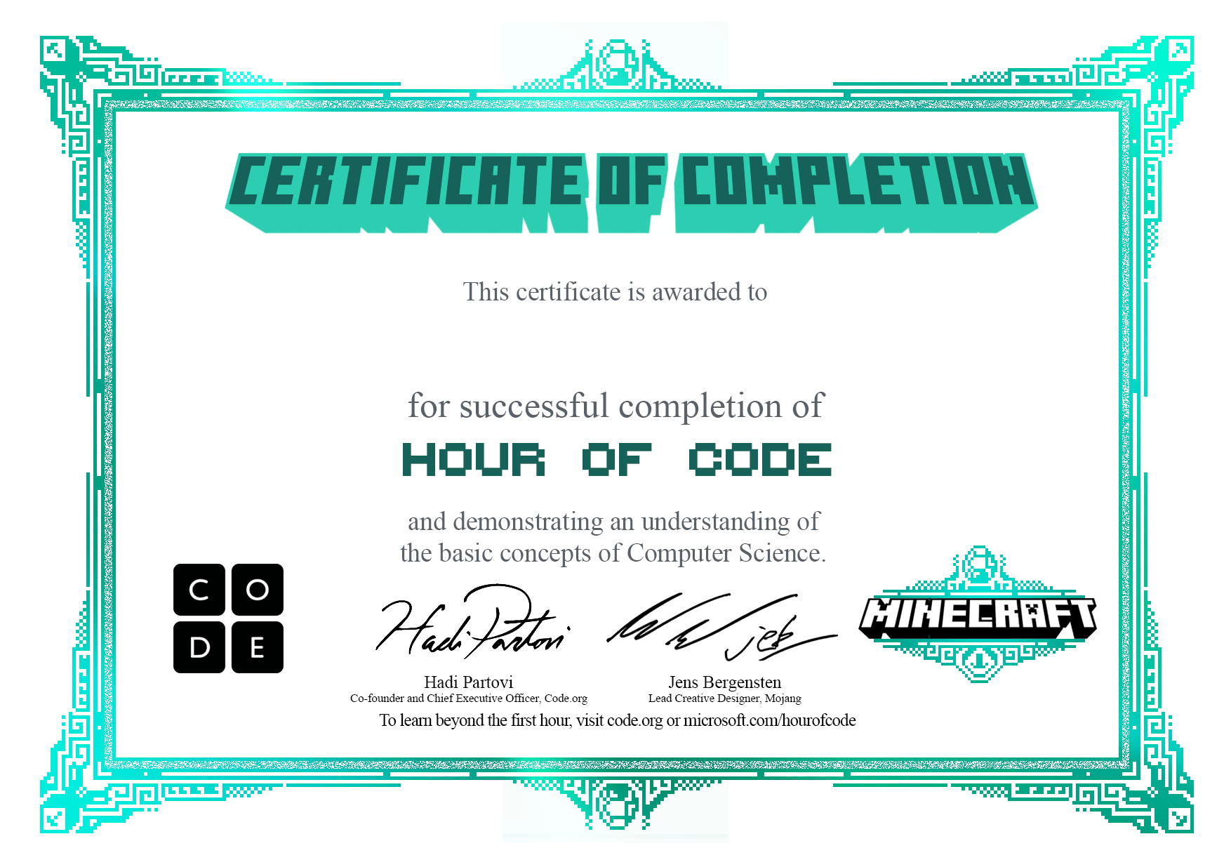 where can i print certificates for my students code org